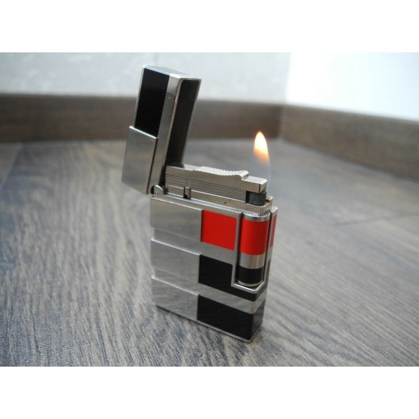 S.T. DUPONT ART & TECHNIQUE LIMITED EDITION Line 2 Platinum Lacque Pocket LIGHTER