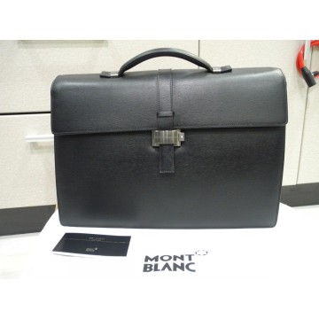 MONTBLANC 4810 WESTSIDE DOUBLE GUSSET BRIEFCASE DOCUMENT LEATHER CASE 7579 NOS
