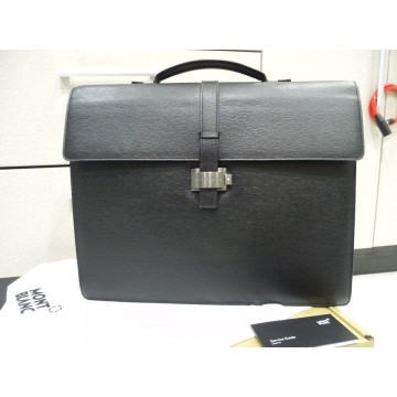 MONTBLANC 4810 WESTSIDE TRIPLE GUSSET BRIEFCASE DOCUMENT LEATHER CASE 9562 NEW