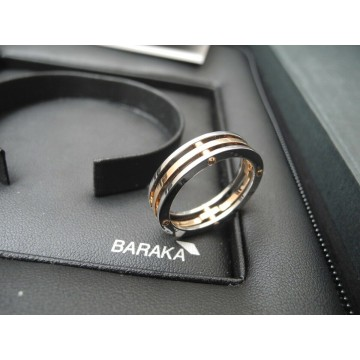 BARAKA TWO TONE 18K ROSE WHITE GOLD BAND RING Barakà WEDDING ANELLO US11 EU65