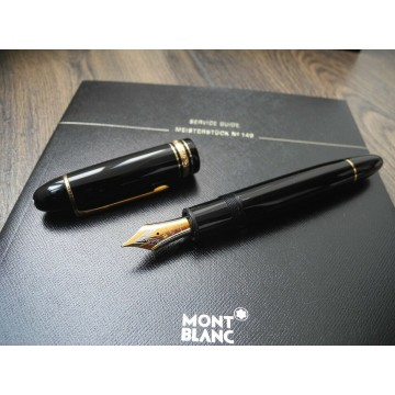 MONTBLANC 149 SET 18K GOLD M NIB FOUNTAIN PEN + INK NOS NEVER INKED NEW