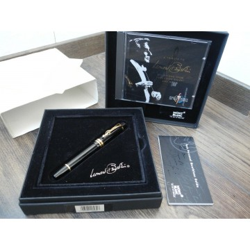 MONTBLANC LEONARD BERNSTEIN 1996 Donation 18K GOLD M nib FOUNTAIN PEN FULL SET