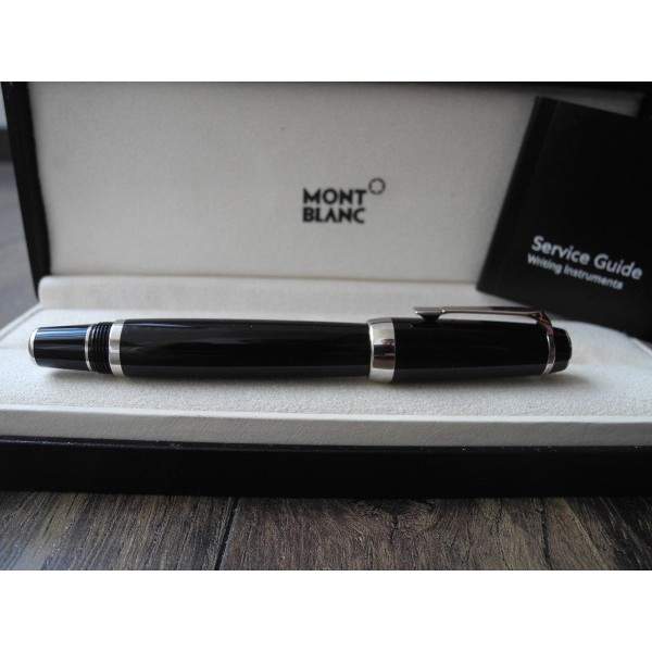 MONTBLANC BOHEME PLATINUM 2000 FIXED MEDIUM GOLD NIB No Gem Fountain Pen