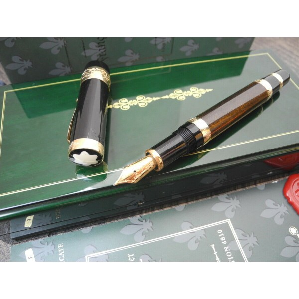 MONTBLANC PATRON OF ART FRANCOIS I 4810 LIMITED EDIT 18K GOLD F FOUNTAIN PEN NEW