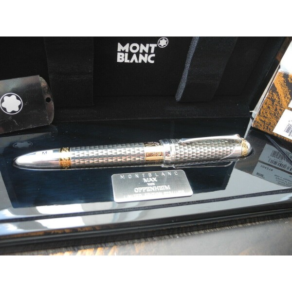 MONTBLANC PATRON OF ART MAX VON OPPENHEIM 2009 LIMITED 4810 FOUNTAIN PEN MINT