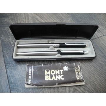 MONTBLANC Noblesse Slimine Matte Black Steel FOUNTAIN & BALLPOINT NOS PEN SET