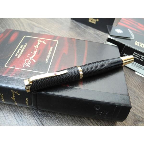 MONTBLANC VIRGINIA WOOLF WRITERS LIMITED EDITION 18K GOLD NIB B FOUNTAIN PEN