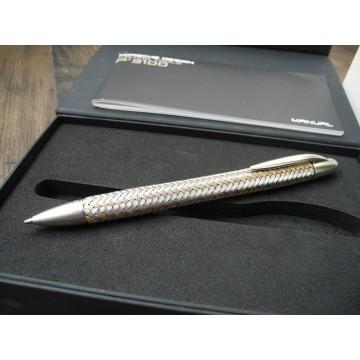 PORSCHE DESIGN TEC FLEX P'3110 GOLD SS FABER-CASTELL BALLPOINT PEN NEW SET