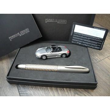 PORSCHE DESIGN TEC FLEX P'3110 GOLD SS FABER-CASTELL Collector's ROLLERBALL PEN