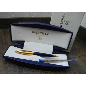 WATERMAN EDSON SAPPHIRE BLUE 23K GOLD BALLPOINT PEN