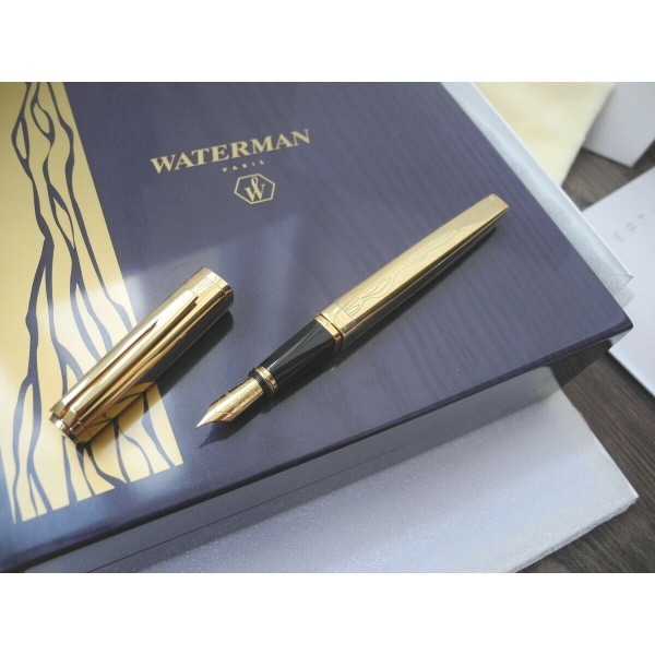 WATERMAN EXCEPTION VERMEIL GOLD The Marks of Time LIMITED EDITION FOUNTAIN PEN