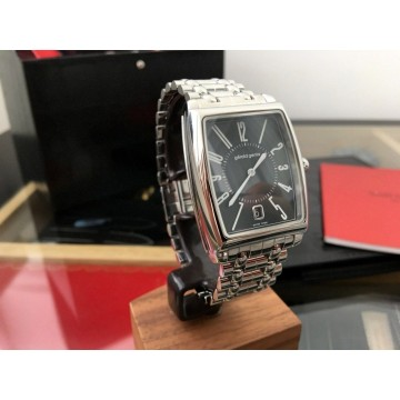 GERALD GENTA SOLO 35x44mm BIG DATE Stainless Steel AUTOMATIC WATCH LEATHER BOX