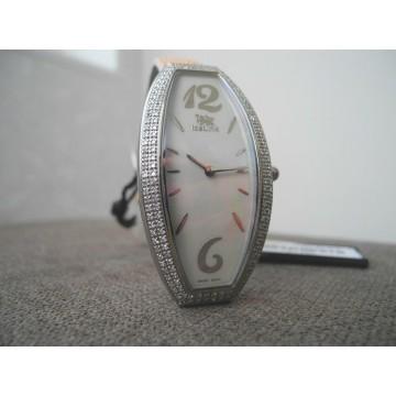 ICELINK CYGNUS 1.50Ct DIAMONDS MOTHER of PEARL STINGRAY STRAP Lady's WATCH NEW
