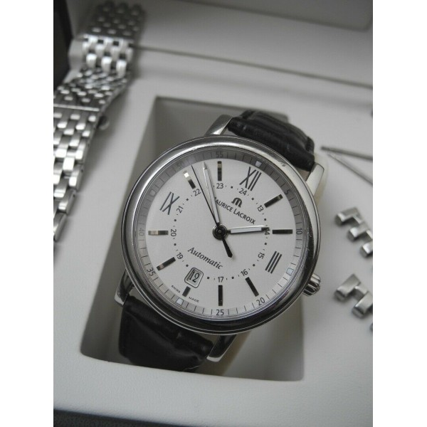 MAURICE LACROIX PONTOS Les Classiques AUTOMATIC DATE Stainless Steel 40mm WATCH