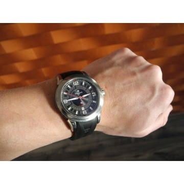PERRELET TITANIUM 3 HANDS-DATE 43mm AUTOMATIC ROTOR SWISS WATCH A5007