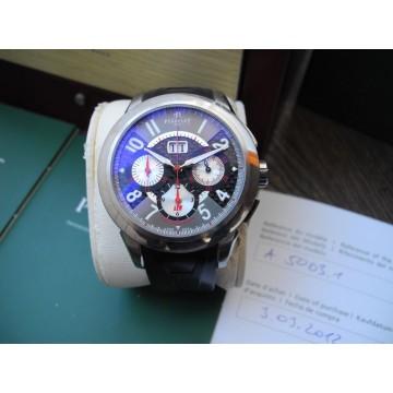 PERRELET TITANIUM BIG DATE CHRONOGRAPH 43mm AUTOMATIC WATCH A5003/1 FULL SET