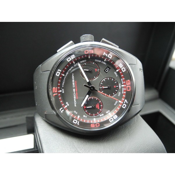 PORSCHE DESIGN DASHBOARD CHRONOGRAPH RED BLACK PVD AUTOMATIC 44mm WATCH